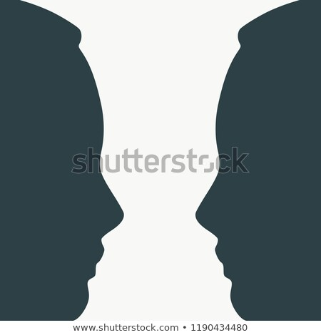 Two faces side by side- illusion of a vase  Stock photo © shawlinmohd