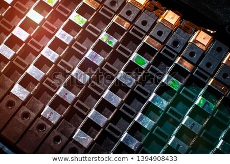 Usado lítio branco metal Foto stock © dezign56