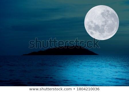 full moon over mountains Stock photo © PixelsAway