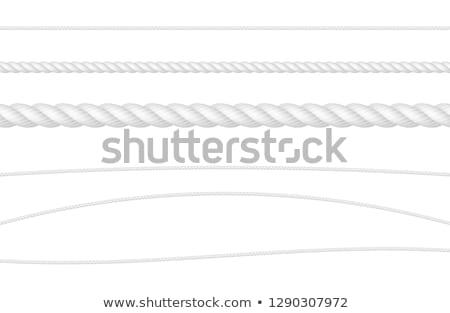 белый веревку изолированный инструментом безопасности строку Сток-фото © dezign56