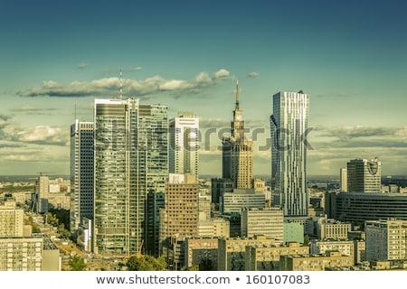 şehir · merkezinde · Varşova · öğleden · sonra · güneş · görmek · gökyüzü - stok fotoğraf © filipw