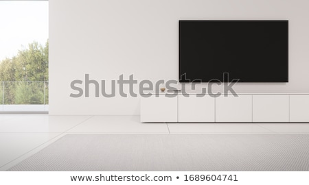 3d rendered TV with blanck screen Stock photo © blotty
