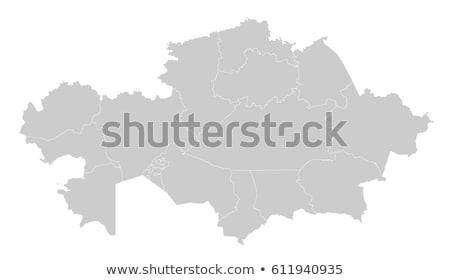 Mapa Cazaquistão bandeira símbolo branco viajar Foto stock © mayboro1964
