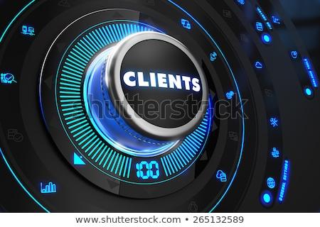 ügyfelek fekete irányítás konzol kék háttérvilágítás Stock fotó © tashatuvango