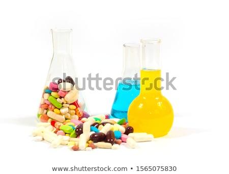 Választék üveg orvosi technológia gyógyszer tudomány Stock fotó © OleksandrO