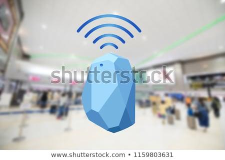 Baken internet icon vector afbeelding kan Stockfoto © Dxinerz