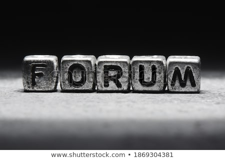 Metal fórum texto internet assinar grupo Foto stock © bosphorus