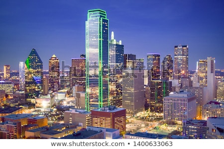 Dallas cityscape matin Texas ville sunrise Photo stock © AndreyKr