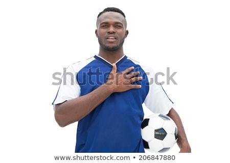 Azul escuta hino branco esportes Foto stock © wavebreak_media