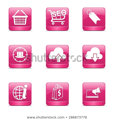 SEO Internet Sign Square Vector Pink Icon Design Set 7 Stock photo © rizwanali3d
