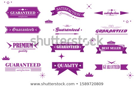 Warranty Guarantee Seal Violet Vector Button Icon Design Set Stock photo © rizwanali3d