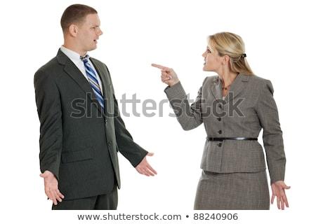 onschuldige · manager · knap · zakenman · business · haren - stockfoto © fuzzbones0
