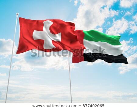 Швейцария Объединенные Арабские Эмираты флагами головоломки изолированный белый Сток-фото © Istanbul2009