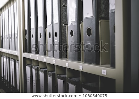 A drawer cabinet with the label Regulations Stock photo © Zerbor