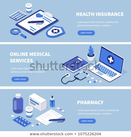 Medical Prescription and Medical Services Icon. Flat Design. Stock photo © WaD