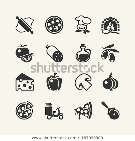 vector collection of italian pizza icons stock photo © freesoulproduction