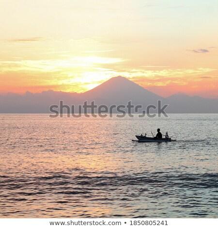 vulcão · bali · paisagem · céu · ilha - foto stock © artush