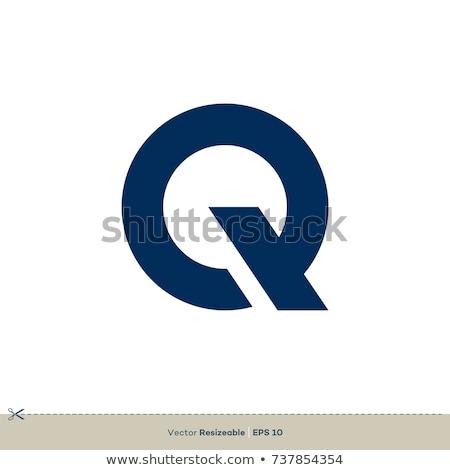 Abstract blue logo Q Stock photo © netkov1