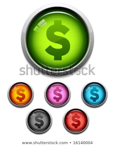 Dollárjel ibolya vektor ikon terv pénzügy Stock fotó © rizwanali3d