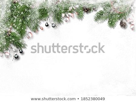 Karácsony váz üdvözlet képeslap fából készült szív Stock fotó © marimorena