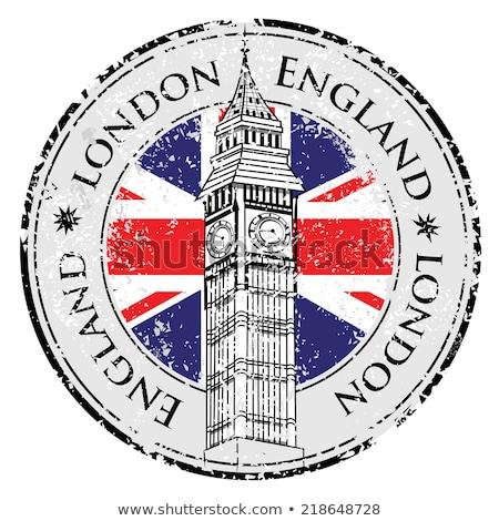 Londres · viajar · carimbo · isolado · branco · azul - foto stock © winner