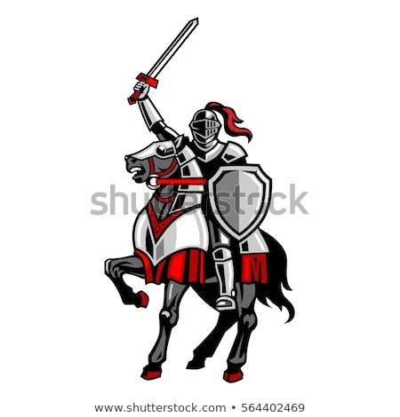 medieval sword knight on horse stock photo © krisdog