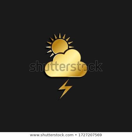 フラッシュ 雲 ベクトル アイコン デザイン ストックフォト © rizwanali3d