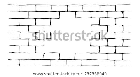 brick wall with breach stock photo © paha_l