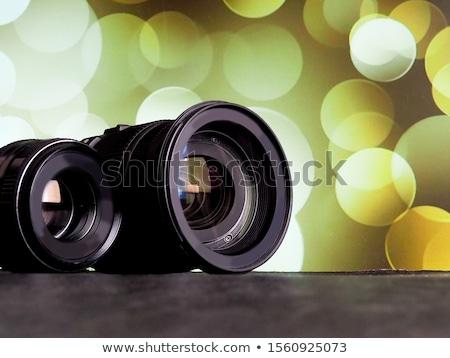 Photographic camera lens with bokeh light Stock photo © stevanovicigor