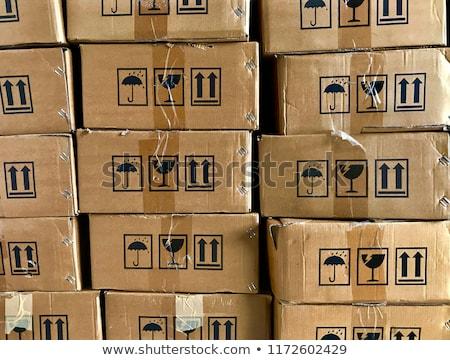 összetett kép egymásra pakolva karton dobozok narancs Stock fotó © wavebreak_media