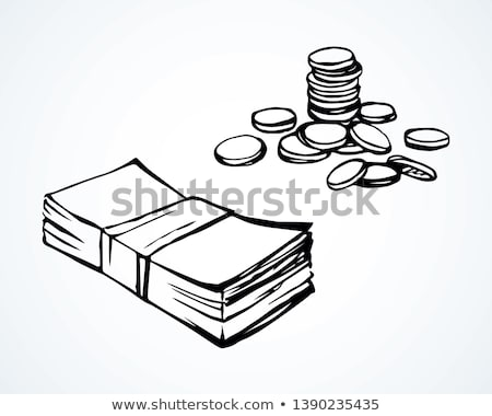 Zdjęcia stock: Pack Of Money - Big Pile Of Banknotes In Hand
