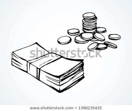 Stockfoto: Pack · geld · groot · bankbiljetten · hand
