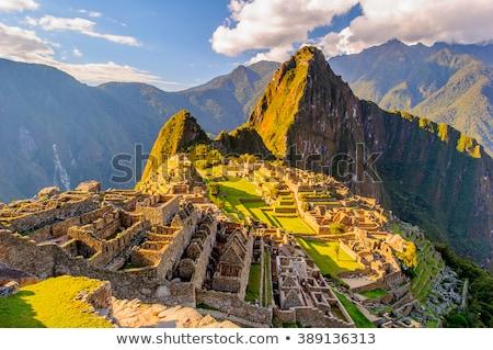 Titokzatos város Machu Picchu Peru csoda világ Stock fotó © alexmillos