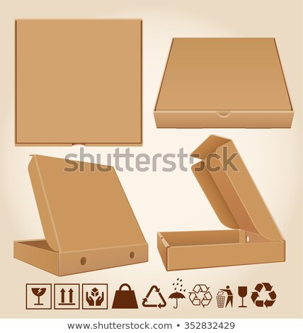 Four pizza box in different positions stock photo © elgusser