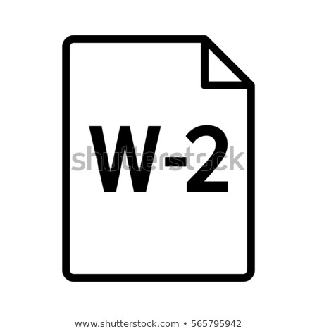 W-2 Tax statement Stock photo © mblach