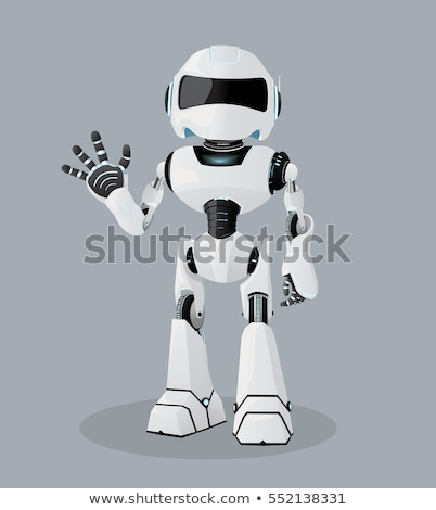 robot or droid cartoon illustration Stock photo © izakowski