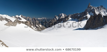 Stock photo: Mont Blanc - Dent du Geant and Mer de Glace