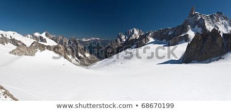 mont blanc   dent du geant and mer de glace stock photo © antonio-s