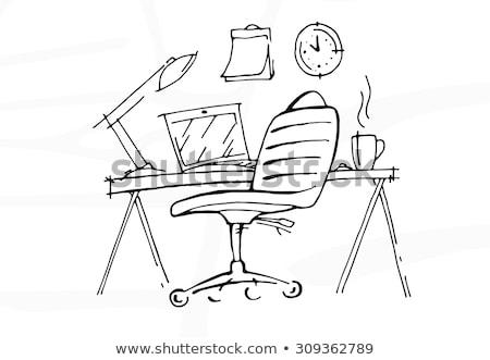 Equipamentos de escritório ícones qualidade projeto ilustração elementos Foto stock © netkov1