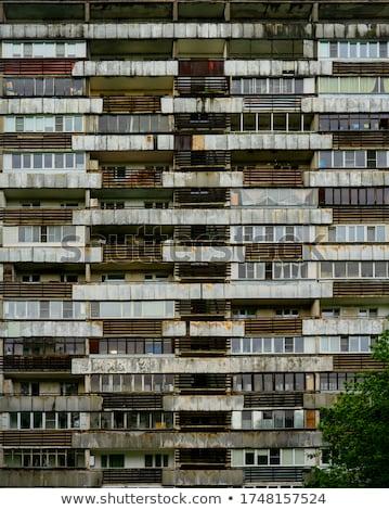 Achterbuurt balkon palmboom gebouw architectuur Stockfoto © Klinker