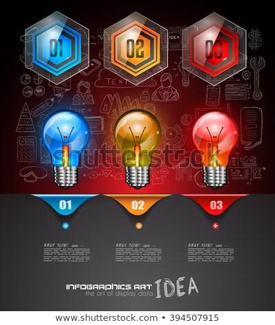 infografika · összetett · elrendezés · opció · gombok · kézzel · rajzolt - stock fotó © davidarts