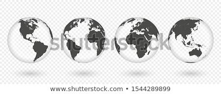 Földgömb Afrika Európa Ázsia térképek üzlet Stock fotó © soleilc