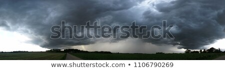 dramatic sky with storm and approaching hurricane Stock photo © meinzahn