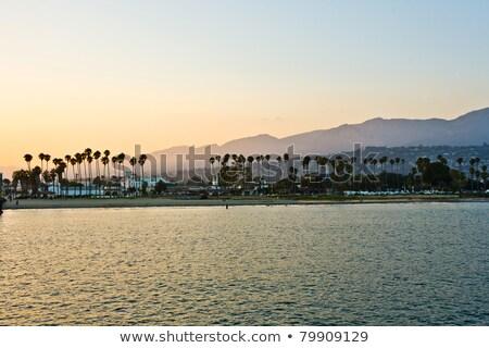 plaży · California · molo · wygaśnięcia · złoty · sylwetka - zdjęcia stock © meinzahn