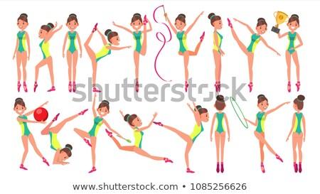 美しい 体操選手 スポーツ 夏 ゲーム ポップアート ストックフォト © studiostoks