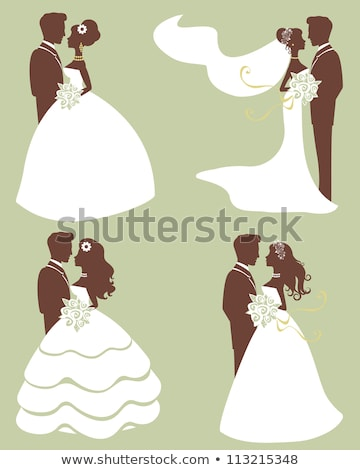 Bride and Groom Wedding Silhouette Couple Stock photo © Krisdog