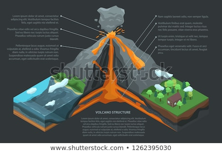 A cross-section of the volcano Stock photo © bluering