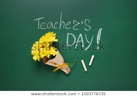 Iskola tábla szó jókedv fa asztal oktatás Stock fotó © fuzzbones0