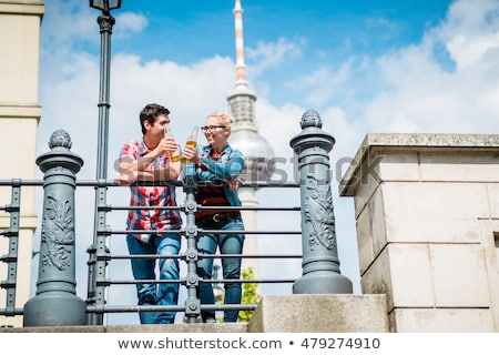 Berlin tourists enjoying view from bridge at the Museum Island  Stock photo © Kzenon