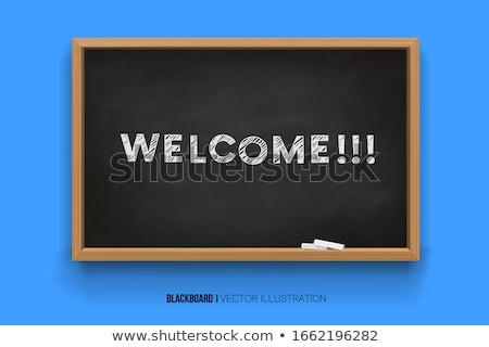 Escolas conselho palavra negócio mesa de madeira escritório Foto stock © fuzzbones0